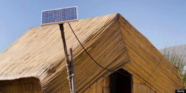 'Subject: The utilization of solar power for the reed houses of the Uros island on Lake TiticacaLocation: Lake Titicaca, Puno