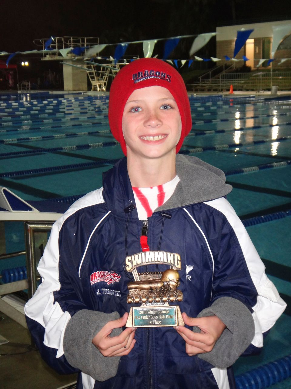 "Swimmer, 9, Gives Up His Trophy To Sick Rival (<a href=""http://www.jdswim.com/Home.jsp?_tabid_=0&team=fgjdst"">Courtesy Jonath"
