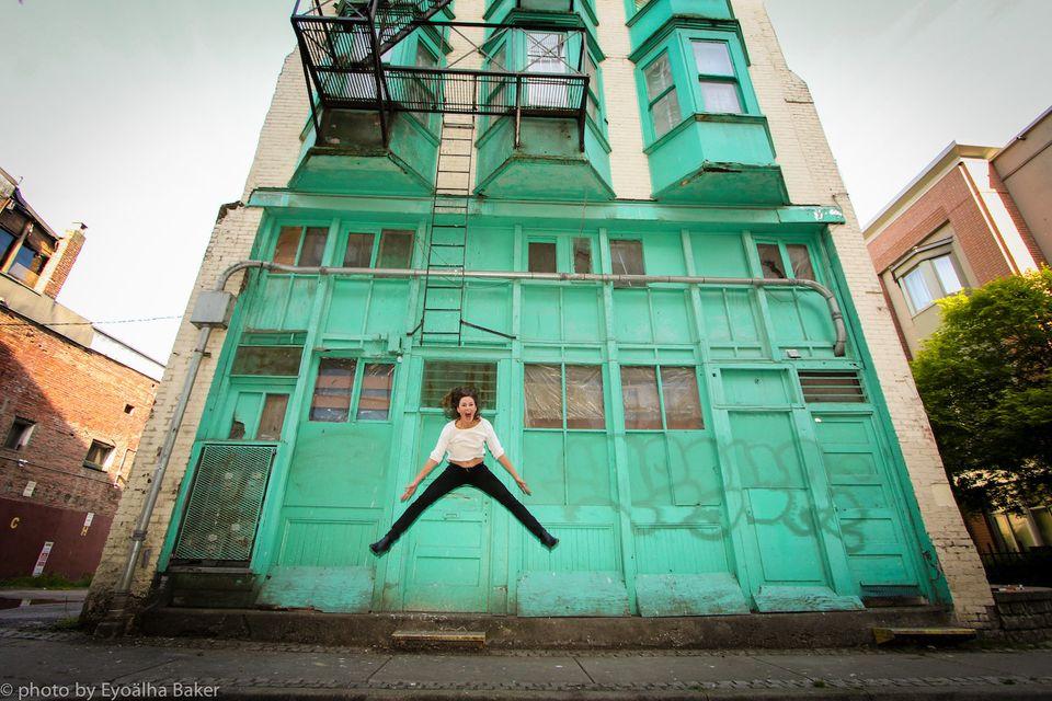 B.C. photographer Eyoälha Baker takes photos of people jumping for joy.