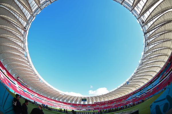 General view of Beira-Rio Stadium in Porto Alegre on June 17, 2014 on the eve of the Group B football match between Australia