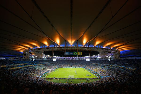 A general view of the stadium during the 2014 FIFA World Cup Brazil Group F match between Argentina and Bosnia-Herzegovina at
