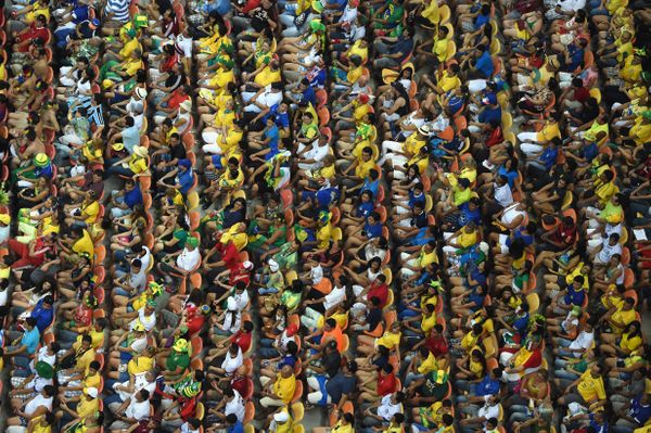 A general view as the crowd watches the action during the 2014 FIFA World Cup Brazil Group D match between England and Italy