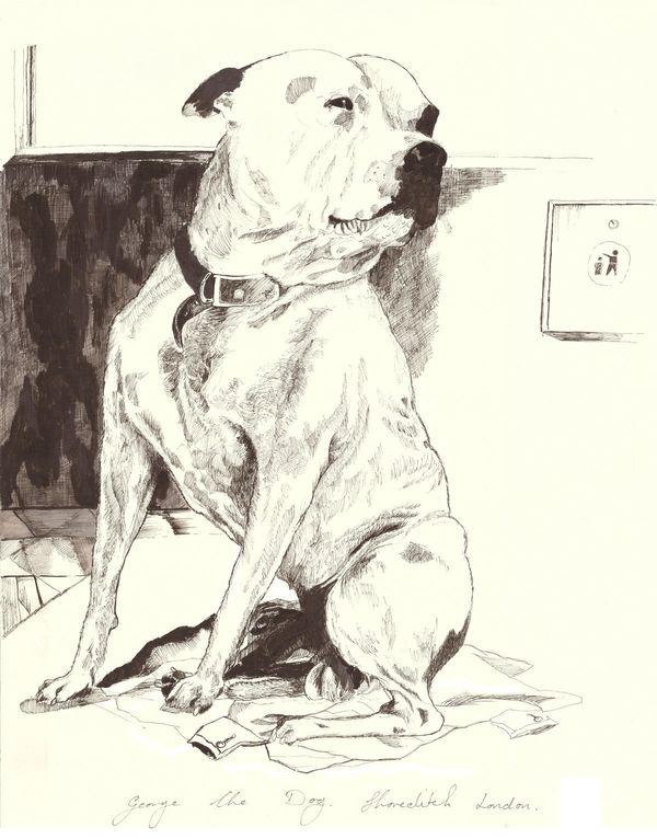 John Dolan - George the Dog, Shoreditch London