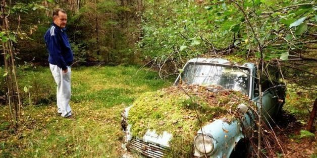 Man Discovers His First Car Covered In Moss 40 Years After It Broke