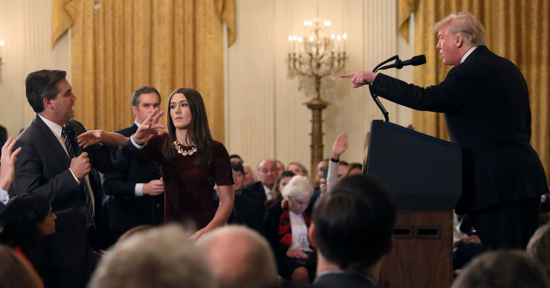CNN Reporter Jim Acosta's White House Press Pass Suspended After Argument With Trump