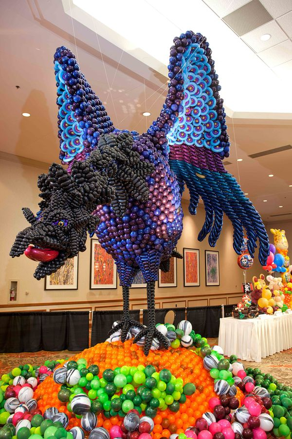 """Experience balloon art beyond your wildest imagination at the Festival of Balloons, like this """"rising Pheonix"""" that took 1st"""