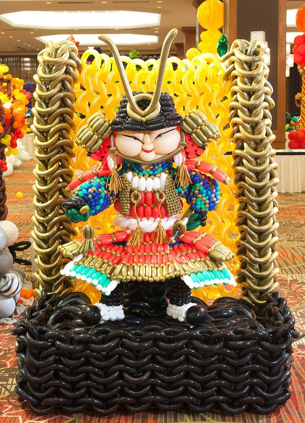 Balloons come to life at the Festival of Balloons! You'll see detailed masterpieces like this Japanese festival doll, which t