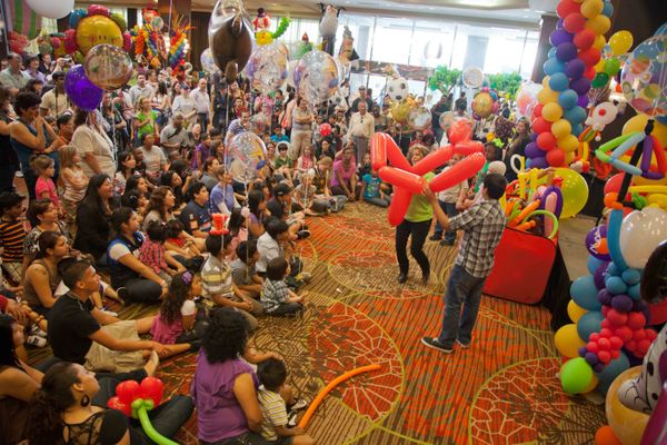 Children and adults alike will enjoy interactive performances by balloon entertainers at the family-friendly Festival of Ball