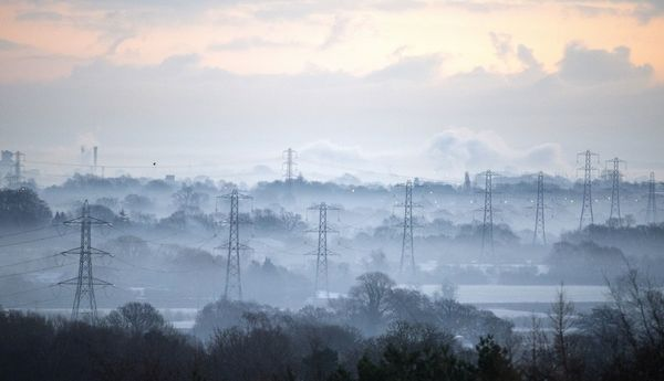 Frosty and cold weather near Tarporley in Cheshire this morning