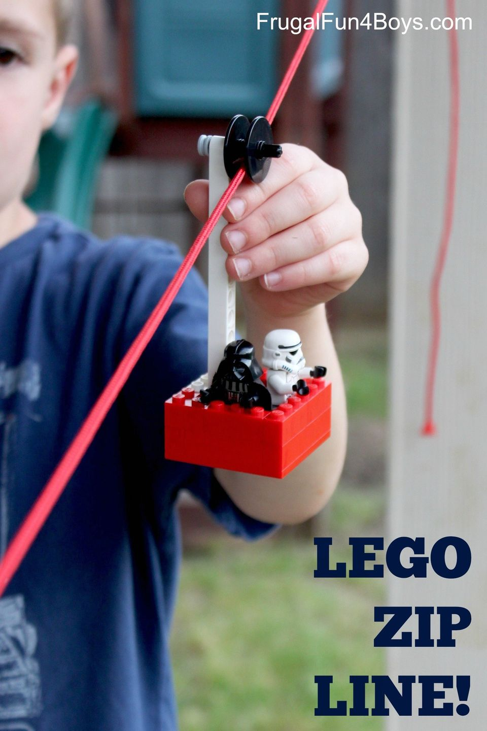 Your kids can send their favourite minifigs for a ride with this clever zipline design. Or perhaps send a snack to the family