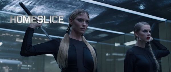 Best known for her modelling work as a Victoria's Secret Angel, Martha plays Homeslice in the 'Bad Blood' video, taking on Ta