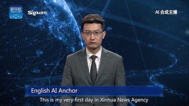 중국 신화통신이 '인공지능 아나운서'를