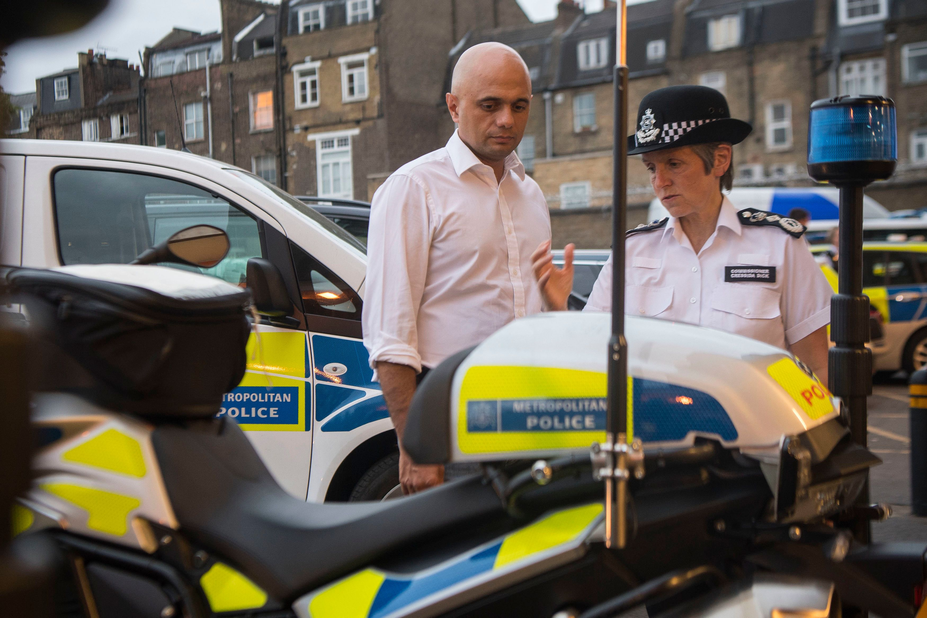 Home Secretary Sajid Javid has called on Met Commissioner Cressida Dick to step up the force's response...