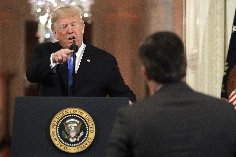 El presidente Donald Trump ofrece una conferencia de prensa en la Casa Blanca, en Washington, el miércoles 7 de noviembre del 2018. (AP Foto/Evan Vucci)