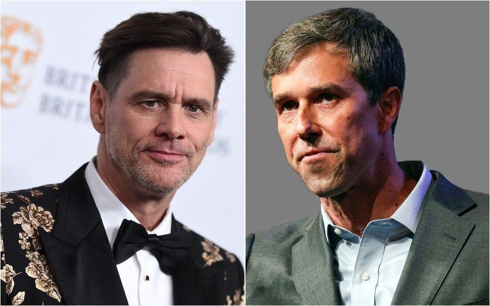 Jim Carrey and Beto O'Rourke