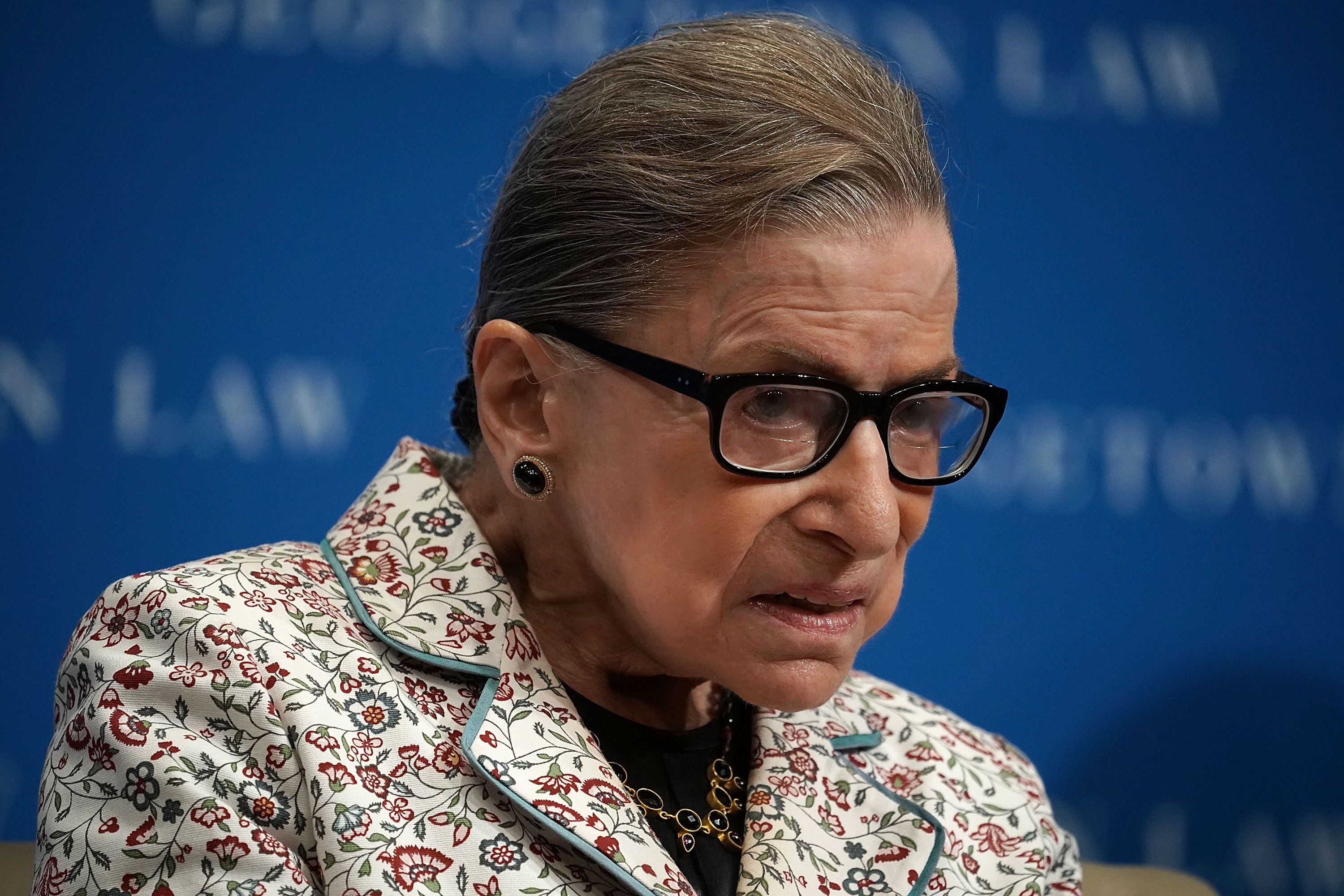 US Supreme Court Justice Ruth Bader Ginsburg Taken To Hospital After Fall At