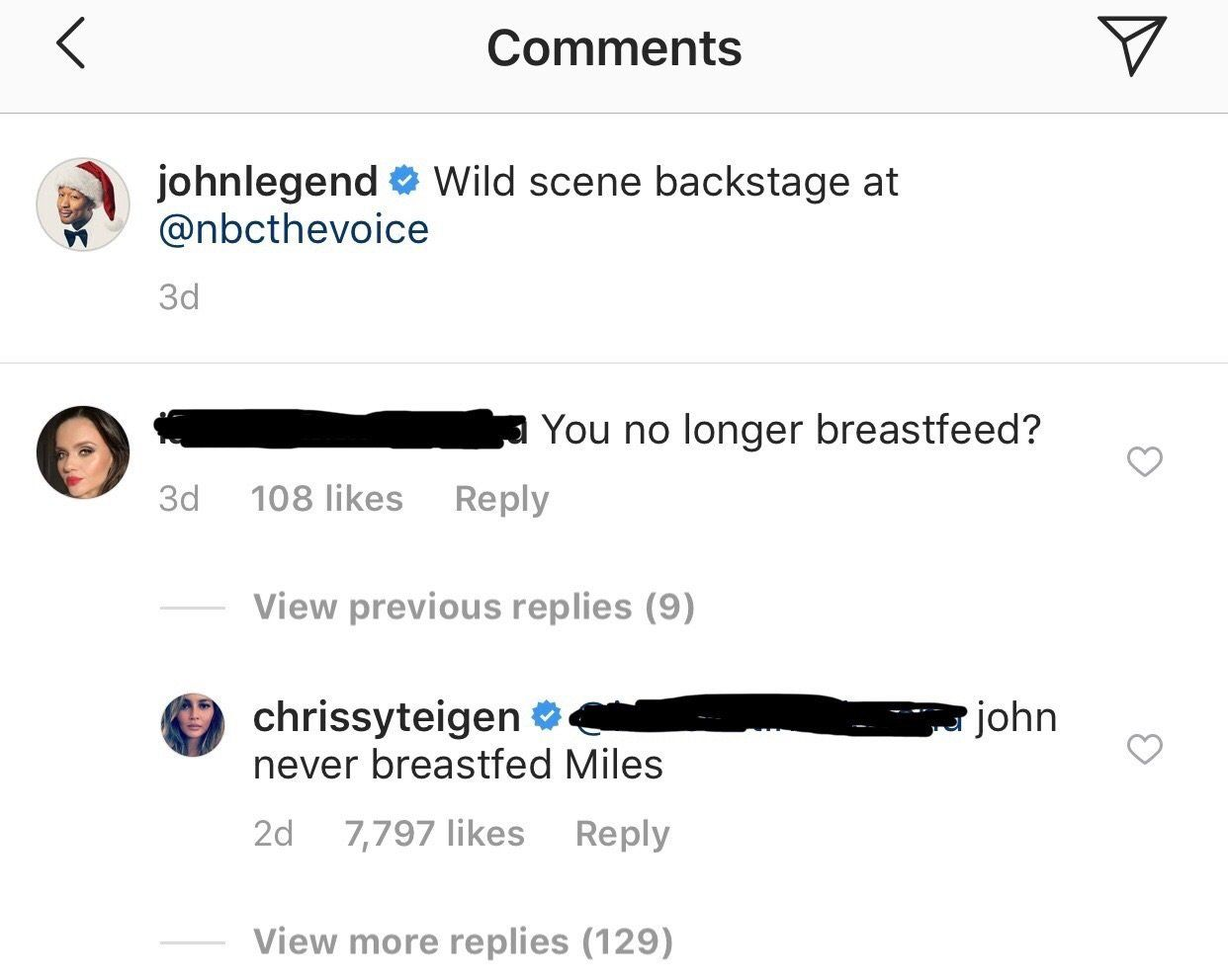 Chrissy Teigen Zings Commenter For Noting Her Bottle-Feeding