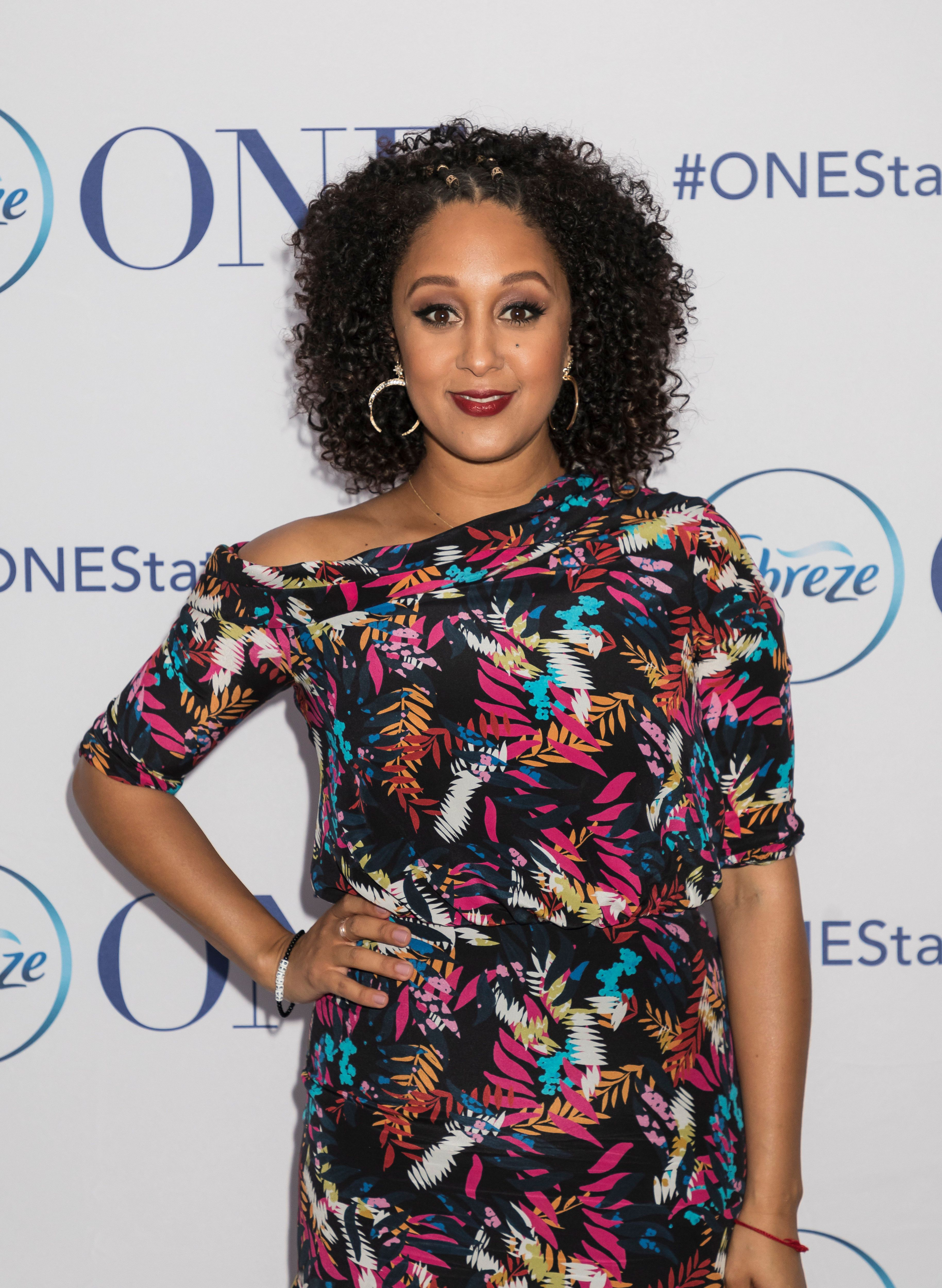 CLIQK SHOWROOM, NEW YORK, UNITED STATES - 2018/04/05: Febreze has partnered with celebrity actress and mom, Tamera Mowry-Housley, to film the ONE Happy Home video series at Cliqk Showroom, NYC. Tamera introduces Febreze ONE product. (Photo by Sam Aronov/Pacific Press/LightRocket via Getty Images)
