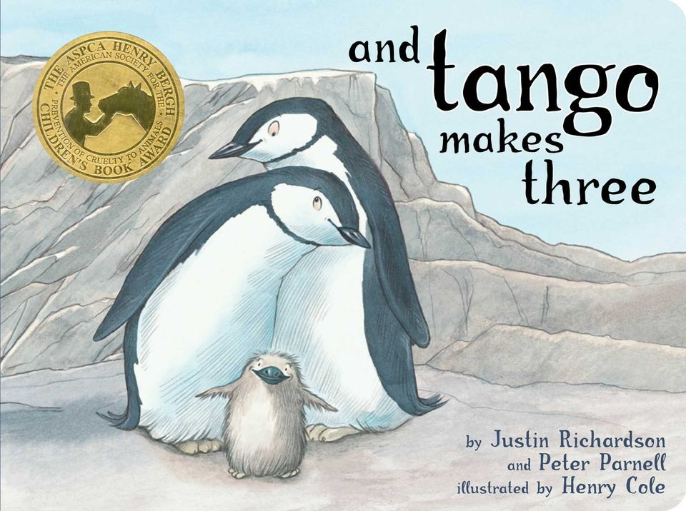 """A&nbsp;heartwarming story about two male penguins at the zoo who create<a href=""""https://www.amazon.com/Tango-Makes-Three-Clas"""