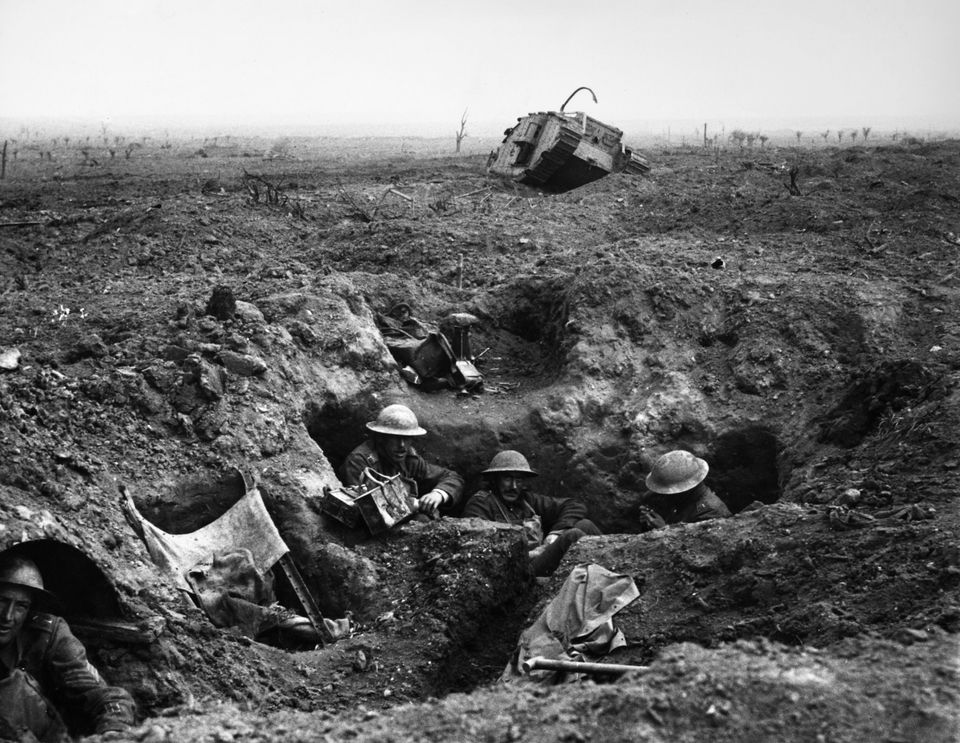 British troops in a trench at theBattle of Passchendaele on 22 September