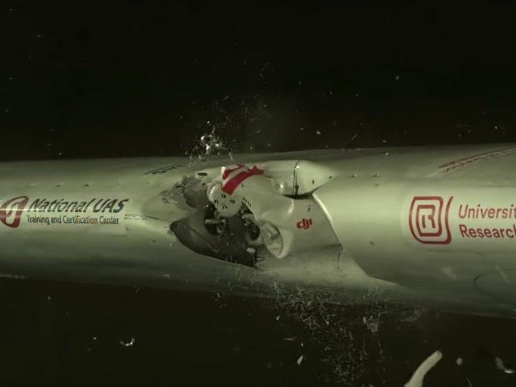 Βίντεο: Δείτε τι συμβαίνει όταν ένα drone συγκρουστεί με ένα
