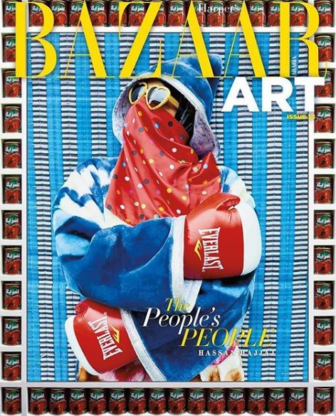 Hassan Hajjaj en couverture du magazine Harper's Bazaar