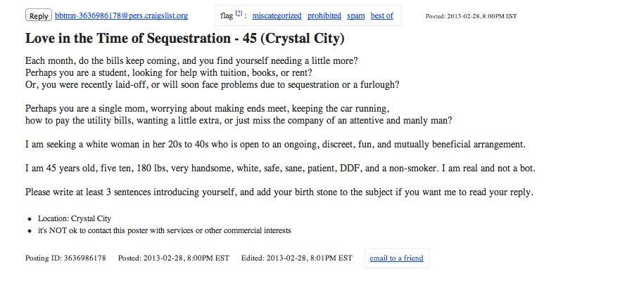 "<a href=""http://washingtondc.craigslist.org/nva/m4w/3636986178.html"">Here's the ad</a>"