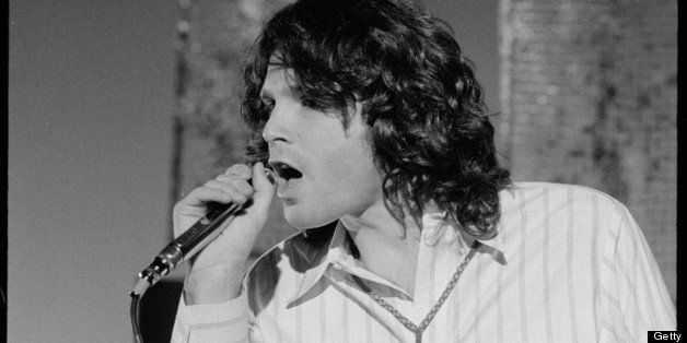 American singer Jim Morrison (1943 - 1971), leader of the rock band The Doors, performs on 'The Smothers Brothers Comedy Hour