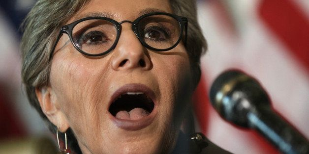 WASHINGTON, DC - NOVEMBER 06:  U.S. Sen. Barbara Boxer (D-CA) speaks during a news conference on military sexual assault Nove