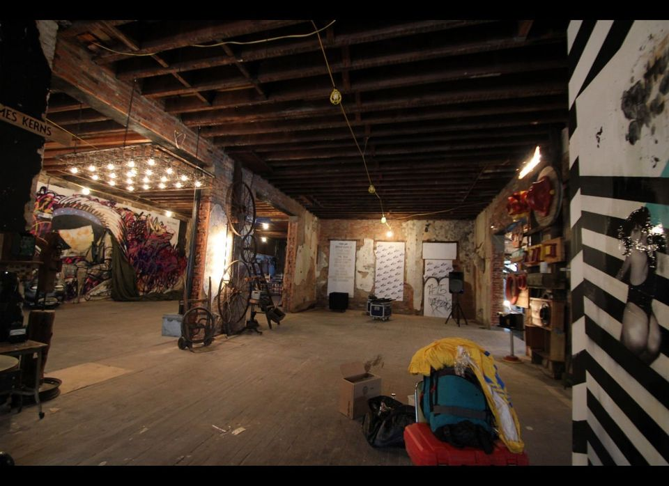 The industrial space on 7th Street NW was transformed in mere days by a group of artists, each of whom has their own corner t