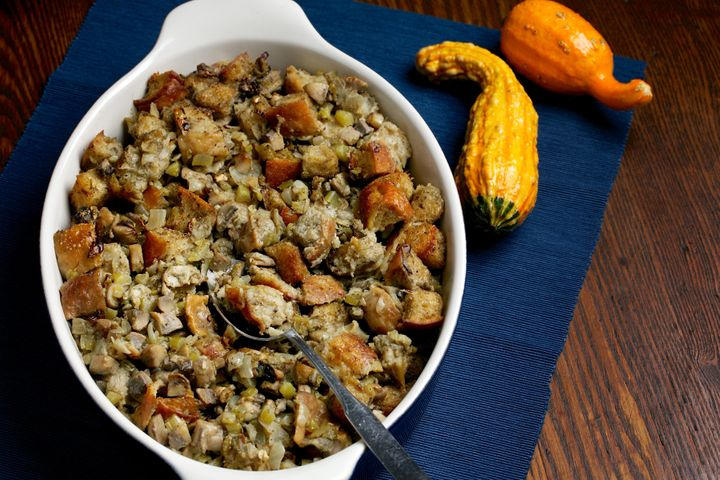 West Coast oyster stuffing (not dressing).