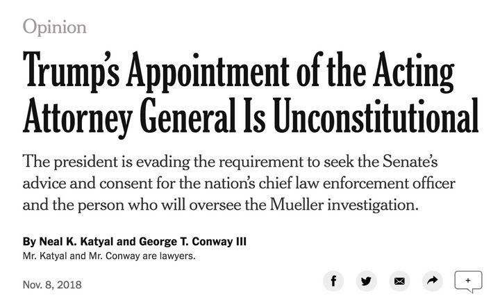 The op-ed written by Neal K. Katyal and George Conway.