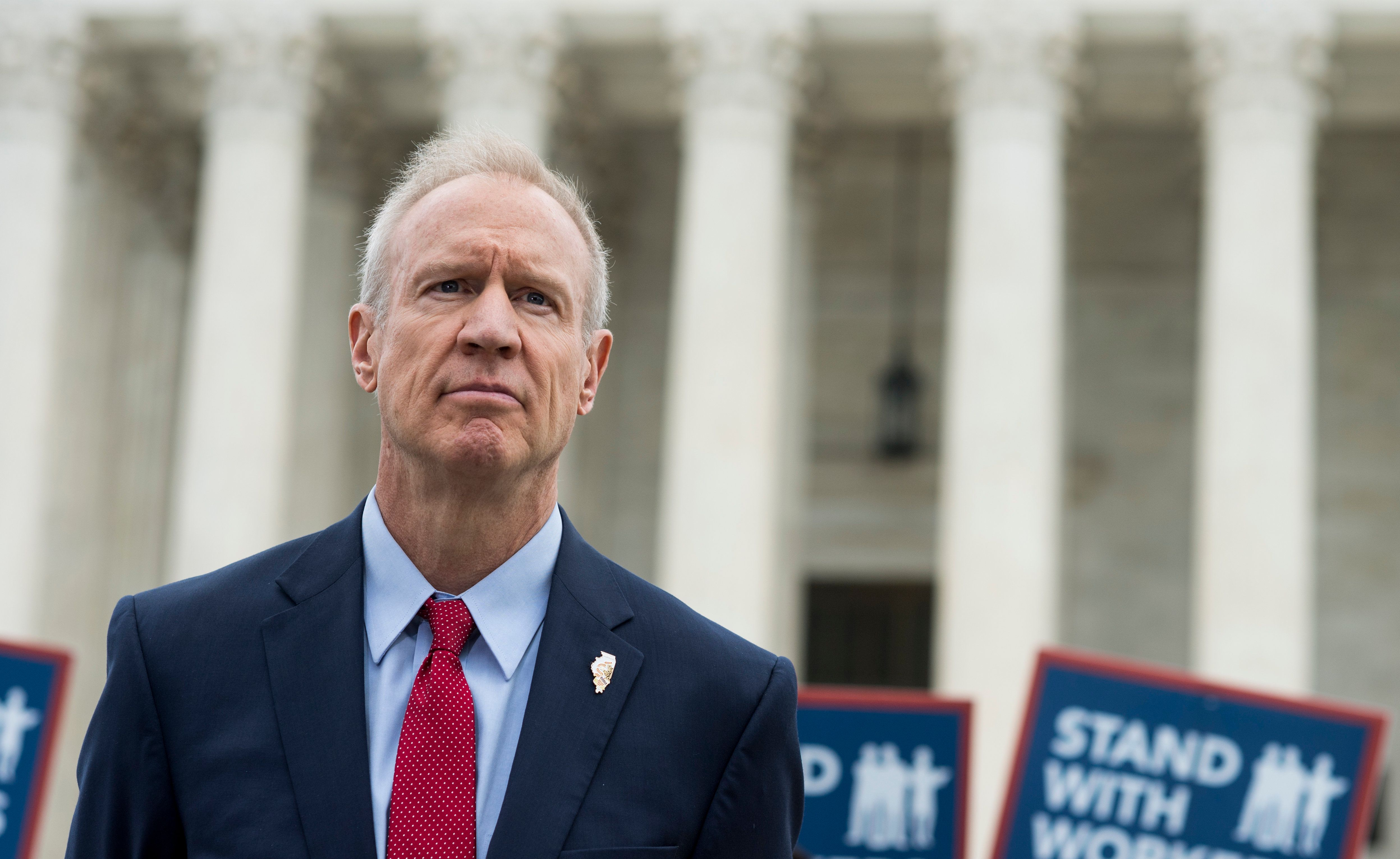 Ilinois Gov. Bruce Rauner lent his support to a case that eventually resulted in a U.S. Supreme Court undercutting unions nationwide.