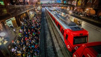 Passenger traffic at Estação da Luz in São Paulo, Brazil, on August 28, 2018.. Estação da Luz is one of the most important railway stations in the city of São Paulo. (Photo by Cris Faga/NurPhoto via Getty Images)