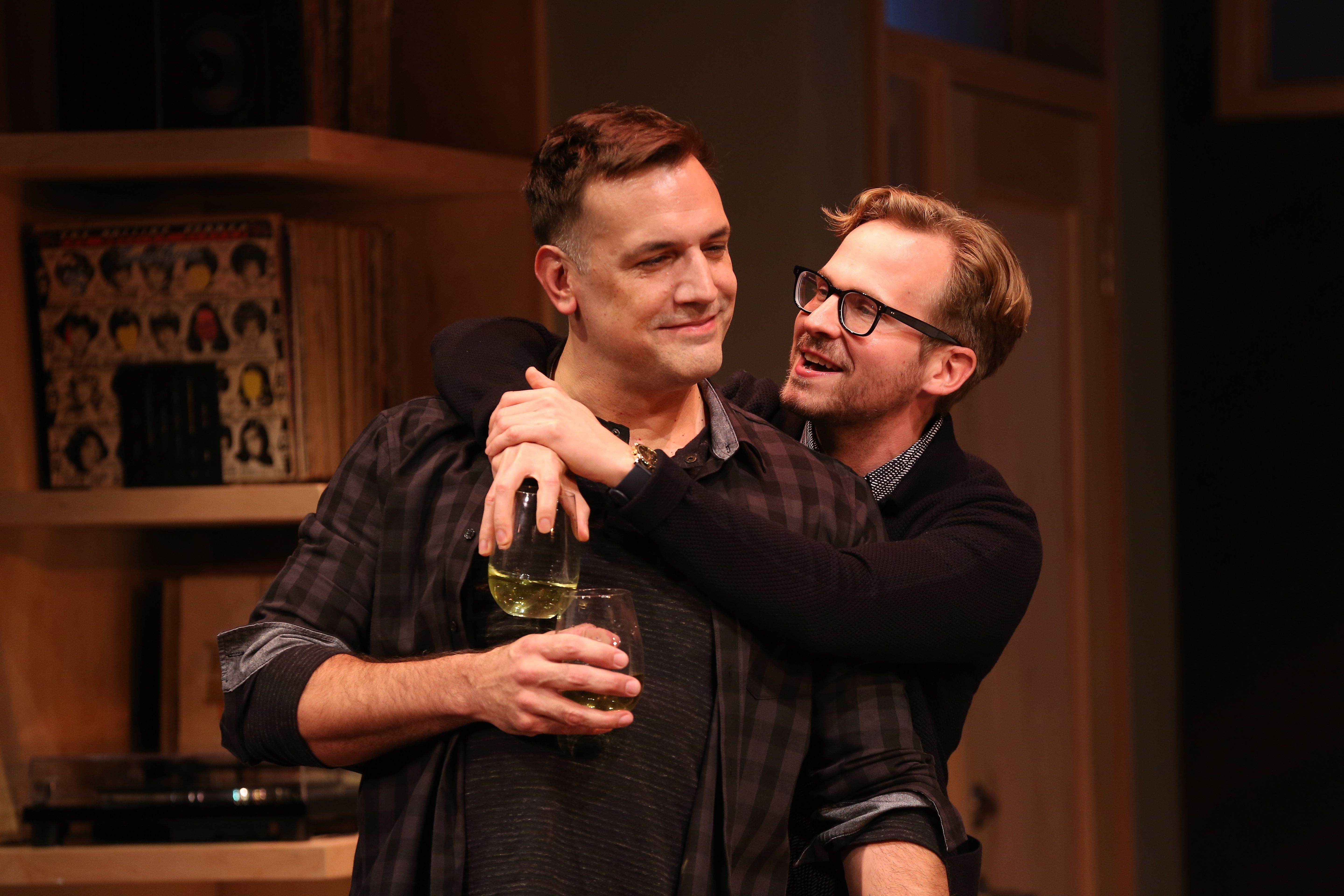 "Matthew Montelongo (left) and Ryan Spahn star in ""Daniel's Husband,"" now playing in New York."