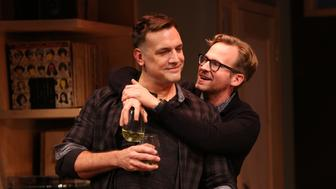 "Matthew Montelongo (left) and Ryan Spahn star in ""Daniel's Husband,"" now playing in New York."