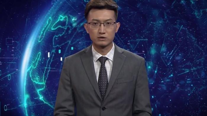 """O primeiro """"âncora AI"""" do mundo foi revelado pela Xinhua, a agência de notícias estatal do país, e utiliza tecnologias de machine learning e imagens de jornalistas reais para criar versão digital capaz de apresentar o noticiário"""