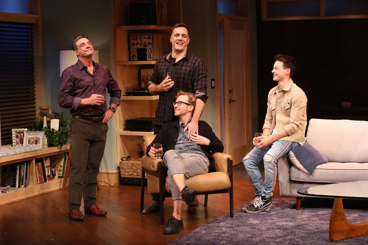 "(From left) Lou Liberatore, Matthew Montelongo, Ryan Spahn and Leland Wheeler star in ""Daniel's Husband,"" now playing in New"
