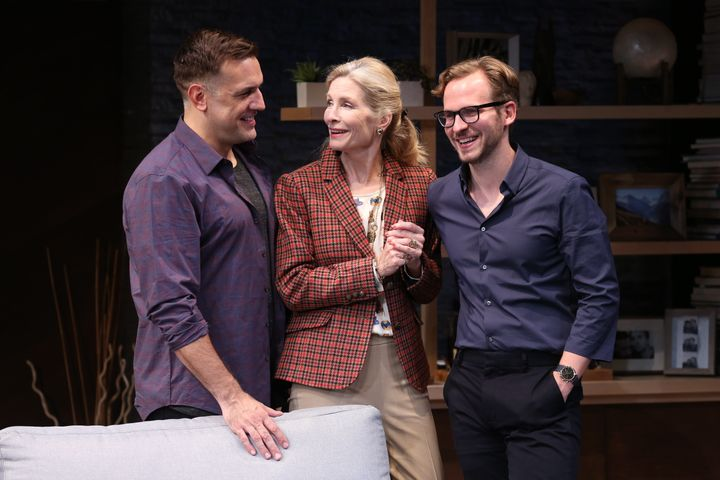 "Anna Holbrook (center) plays Lydia, Daniel's doting but co-dependent mother, in ""Daniel's Husband."""