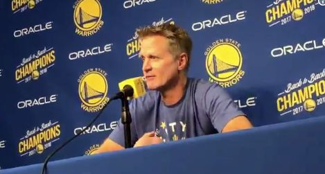 Steve Kerr offers condolences to families of victims of the Borderline Bar shooting.