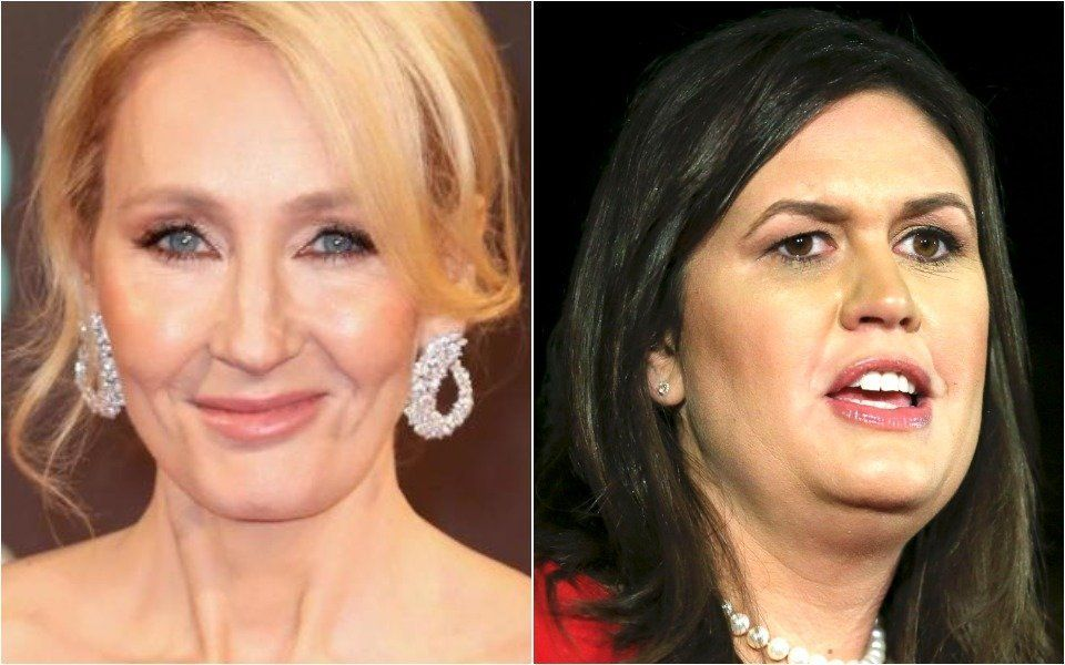 JK Rowling and Sarah Huckabee Sanders
