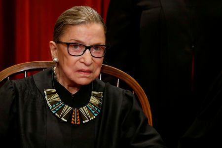 Ginsburg 'Up And Working' From Hospital After Injury From Fall