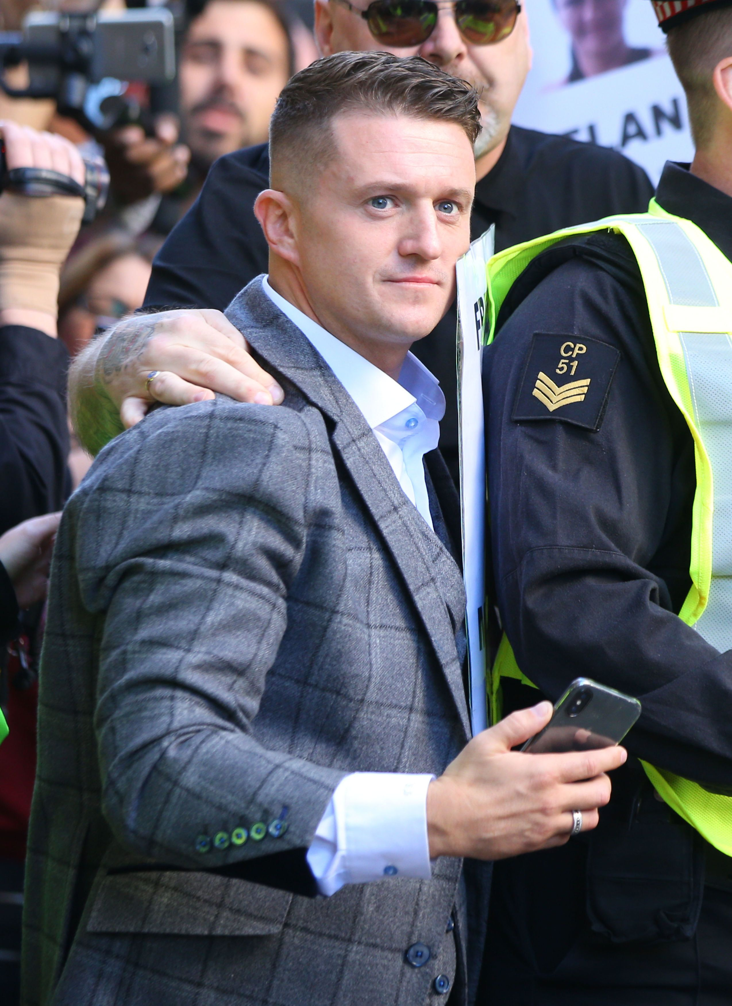 Tommy Robinson, whose real name is Stephen Yaxley-Lennon, is currently banned from entering America.