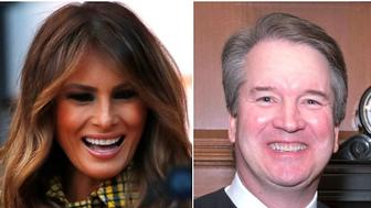 Melania Trump and Brett Kavanaugh