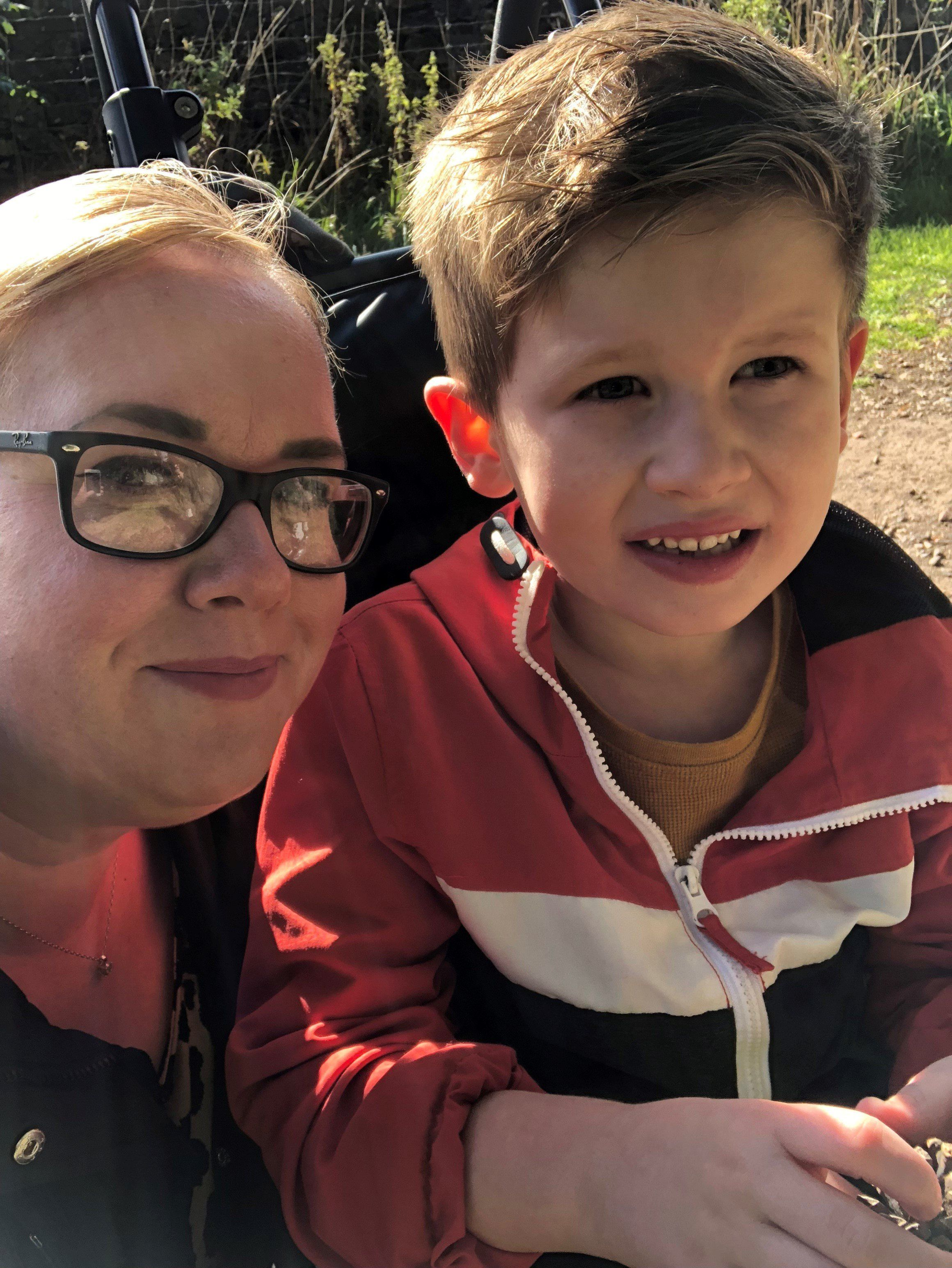 Laura Rutherford and her son Brody