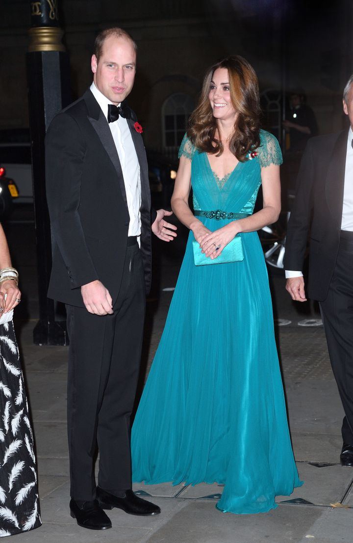 The Duke and Duchess of Cambridge attend the Tusk Conservation Awards on Nov. 8, 2018, in London.