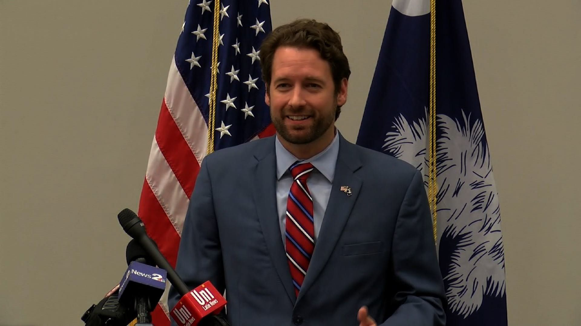 A U.S. house district that includes Charleston, South Carolina has elected a Democrat for the first time in 40 years. Attorney and ocean engineer Joe Cunningham flipped the seat from GOP control in Tuesday's elections. (Nov. 8)