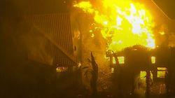 Fires Threaten South California