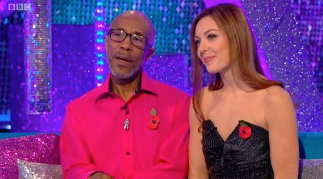 Danny and Amy on 'It Takes Two' earlier in the
