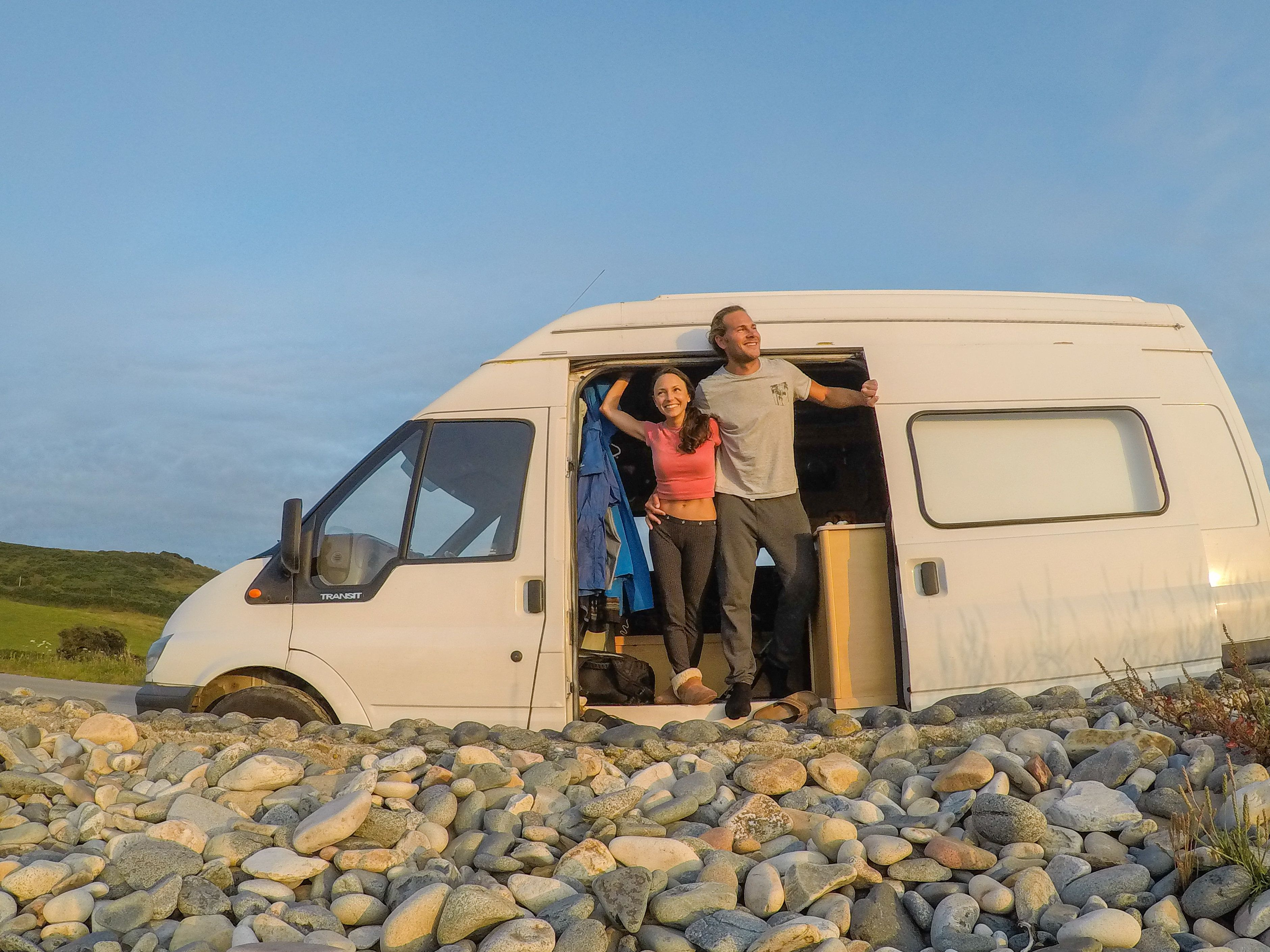 "Brittany and Drew taking in the views along France's ""Pink Granite Coast"" in July."